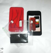Griffen Flex Grip ipod touch 2nd/3rd gen (Twin Pack) Black & Red silicone cases