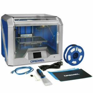 DREMEL 3D40 3D PRINTER + FLEX BUILD PLATE + YELLOW DREMEL 750G PLA FILAMENT