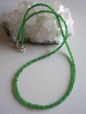 Tsavorit Kette grün, 925er Silber Schloss, 40 Karat - grüner Granat -