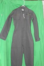 "COVERALLS, US MILITARY, SAGE Green  62""L Cotton W/Velcro for patches, New W/tags"