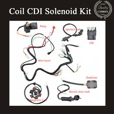 Electrics Stator Wire Loom Coil CDI Solenoid Kit For CHINESE GY6 150CC ATV QUAD