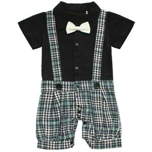 Infant Baby Boys Romper Clothes One-Piece Long Sleeves Solid Jumpsuit Outfits