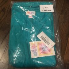 NEW LuLaRoe M Solid Teal Blue Green Bright Carly Dress with Pockets MEDIUM