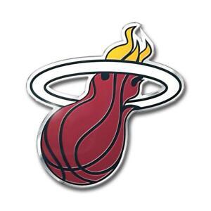 Miami Heat Die-Cut Metal Auto Emblem [NEW] NBA Car Decal Sticker Aluminum