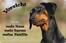 DOBERMANN - A4 Metall Warnschild SCHILD Hundeschild Alu Türschild - DBM 02 T1