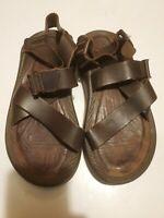 Chaco Men's  Wayfarer Chocolate Brown Leather Sandals 8