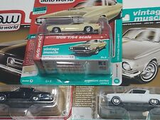 lot of 3Auto World 1/64 1970 Dodge Challenger R/T. 1965 Plymouth barracuda. X16
