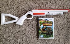 Top Shot Dinosaur Hunter Nintendo Wii Game & Rifle Bundle Wii U Compatible RARE