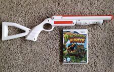 Top Shot Dinosaur Hunter Nintendo Wii Game & Rifle Bundle Wii U Compatible RARE