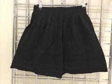 H&M Black Silky Bubble Ruffle Skirt Size UK 6 Cute Party Wear Clubbing Unworn