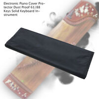 Anti Dust Piano Keyboard Cover 61/88 Key Electronic Piano Dust Cover Protect Bla