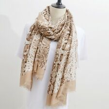 Personalised Snake Print Scarf Wrap Lady Shawl Large Scarves With Pendant Gift