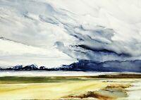 ORIGINAL SCOTTISH ART  - OIL PAINTING -  NORTH UIST BEACH