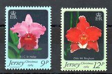 JERSEY MNH UMM STAMP SET 1984 SG 350-351 CHRISTMAS ORCHIDS 1ST SERIES