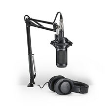 Audio-Technica AT2035PK Streaming/Podcast Studio Mic Pack w/ Boom & Headphones