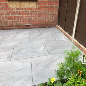 REDUCED TO CLEAR Anthracite Grey porcelain paving slabs tiles patio600x900x20mm