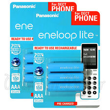 6 x Panasonic eneloop LITE AAA batteries 550mAh Ni-MH Rechargeable HR03 BK-4LCCE