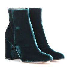 Women Chunky Block High Heel Velvet Ankle Boots Party Prom Boots Shoe Size2.5-10