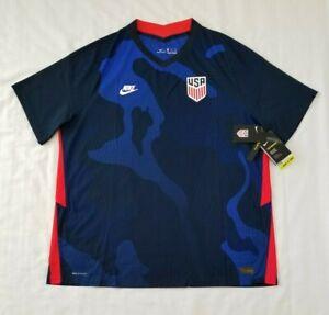 Men Size XXL Blue Nike Vaporknit 2020 USA National Team Soccer Jersey CD0603-475