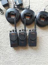 3 Motorola BPR40 Mag One Radios 8 Chan 4 Watt UHF 450-470 W Chargers