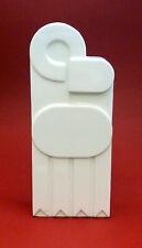 GOLDSCHEIDER Vintage, Modern AUSTRIA GEO ART Vase white porcelain
