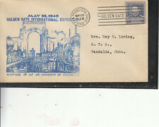 UNCOMMON GOLDEN GATE EXPOSITION MAY 25 1940 ULTRA BLUE CACHET W/#877 SCIENTIST