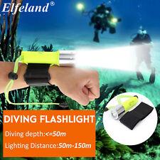 Elfeland T6 1600LM Waterproof 50M Ultra Bright Diving LED Torch Light Flashlight