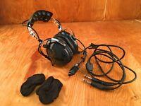 Eastern Avionics Model MIL-2040 headset headphones pilot communication com US