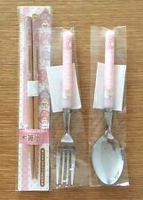 NEW Sanrio Little Twin Stars1 set 3 items of Chopsticks Spoon and Fork KAWAII