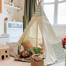 Apple Mist Star Teepee Wigwam Children's Play Tent Cotton Kids Tipi Green Stars