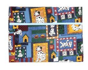 Toddler Pillowcase for Little Dogs on Blue 100%Cotton #DG12 New Handmade
