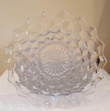 "Set of 8 Vintage Fostoria American Glass Clear 7 5/8"" Salad Plates"