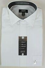 ALFANI Men's Regular Fit Performance Dress Shirt. 17-17.5 36/37 WHITE. NEW