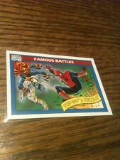 1990 Marvel Comic Universe #112 Famous Battles Spider-man vs Hobgoblin MINT NICE