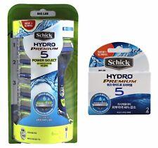 New Schick Hydro Premium 5 Power Select 1 Razor Handle + 9 Cartridges Refills