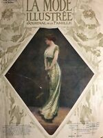 Edwardian MODE ILLUSTREE Dec 29,1912+ sewing PATTERN - Masquerade, evening dress