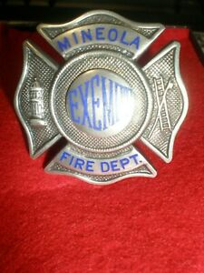 MINEOLA FIRE DEPARTMENT EXEPT BADGE STERLING SILVER