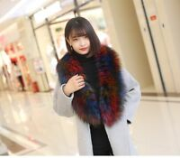 luxury Ladies Fur Collar Scarf Fluffy Shawl Wrap Extra Large Collar Shawl Stole