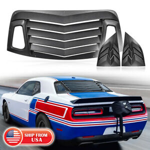 Rear+Side Window Louvers Sun Shade Windshield Cover for 2008-21 Dodge Challenger