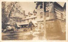 CANADA Quebec Postcard Real Photo RPPC 1947 SHAWINIGAN FALLS Hotel? 90