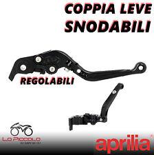 COPPIA LEVE ANTI-ROTTURA CNC REGOLABILI NERE APRILIA CAPONORD 1200 RALLY 2016