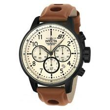 Invicta Men's S1 Rally Quartz Chrono Stainless Steel Brown Leather Watch 23109