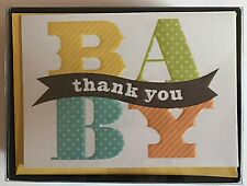 """Hallmark Baby """"Thank You"""" Cards Blank Inside With Envelopes Pack of (24) NEW"""