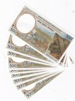 CENTRAL AFRICAN STATES P 301 Ff  10 x 500 FR 1999 CENTRAL AFRICAN REPUBLIC UNC
