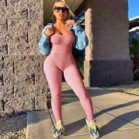 Women's Yoga Jumpsuit Sports Gym Rompers Ladies Fitness Workout Bodysuits Suit