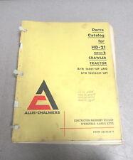 Allis-Chalmers HD-21 Series B Crawler Tractor Parts Catalog Manual 1969