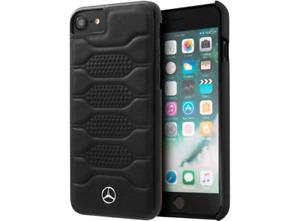 Mercedes-Benz Pattern I Hard Case for iPhone 8/7 Genuine Leather Black