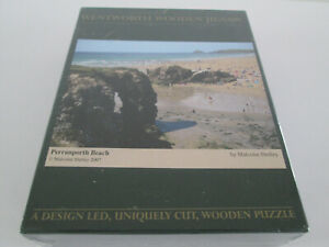 WENTWORTH WOODEN JIGSAW PUZZLE 250 PIECES NEW STILL SEALED PERRANPORTH BEACH 07