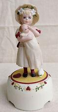 JAN HAGARA Porcelain Figurine CARA Girl Baby Doll Music Box 'Tennessee waltz'