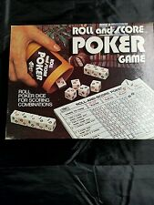 Poker Game Roll And Score